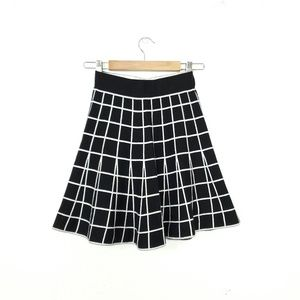 Sunday in Brooklyn windowpane knit sweater skirt S